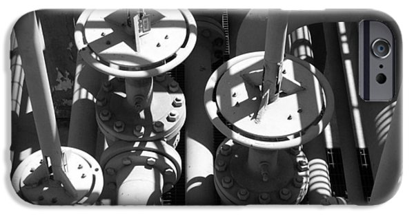 Industry iPhone Cases - Gas Plant Workings iPhone Case by Art Block Collections