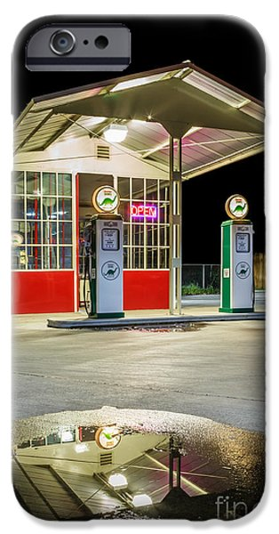 Chico iPhone Cases - Gas Station Reflection iPhone Case by James Eddy