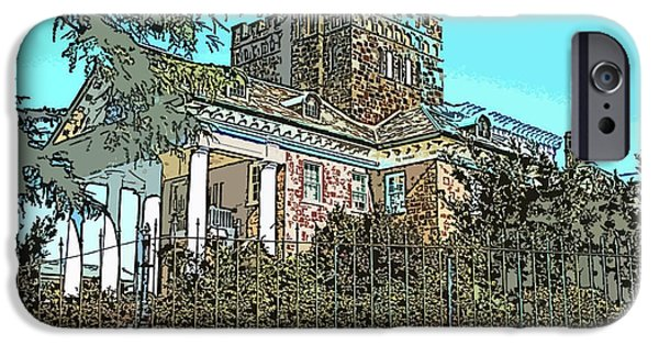 House Pyrography iPhone Cases - Gassaway Mansion iPhone Case by Greg Joens