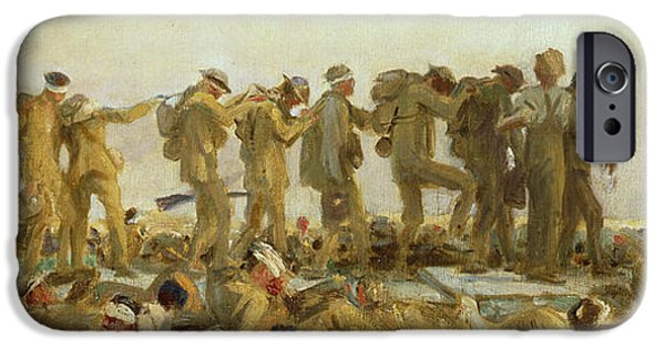 Gas Paintings iPhone Cases - Gassed    An Oil Study iPhone Case by John Singer Sargent