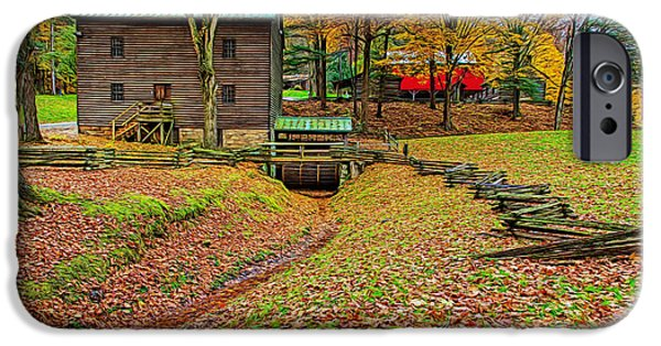 Grist Mill iPhone Cases - Gastons Mill iPhone Case by John Bailey