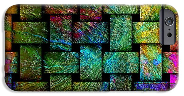 Recently Sold -  - Abstract Digital iPhone Cases - Gate iPhone Case by Visual Artist  Frank Bonilla