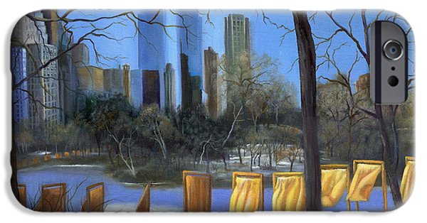 Warner Park Paintings iPhone Cases - Gates of New York iPhone Case by Marlene Book