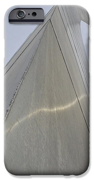 Stainless Steel Pyrography iPhone Cases - Gateway Arch  iPhone Case by DUG Harpster