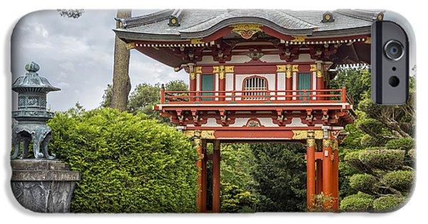 Buddhism iPhone Cases - Gateway - Japanese Tea Garden - Golden Gate Park iPhone Case by Adam Romanowicz
