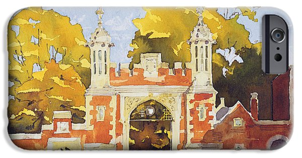 Lincoln iPhone Cases - Gateway  Lincolns Inn iPhone Case by Annabel Wilson
