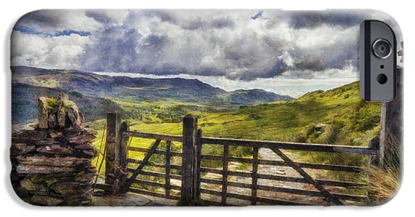 Field. Cloud iPhone Cases - Gateway To Freedom iPhone Case by Ian Mitchell