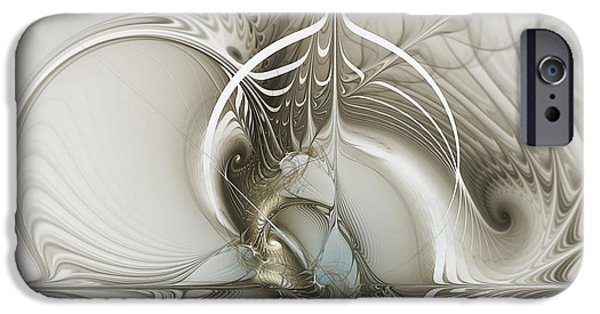 Three Sizes iPhone Cases - Gateway to Heaven-Fractal Art iPhone Case by Karin Kuhlmann