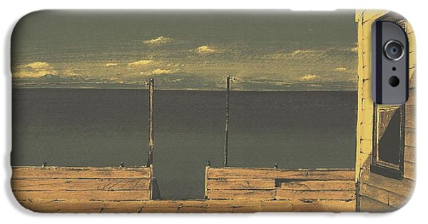 Chatham Mixed Media iPhone Cases - Gateway to the Sea iPhone Case by Diane Strain