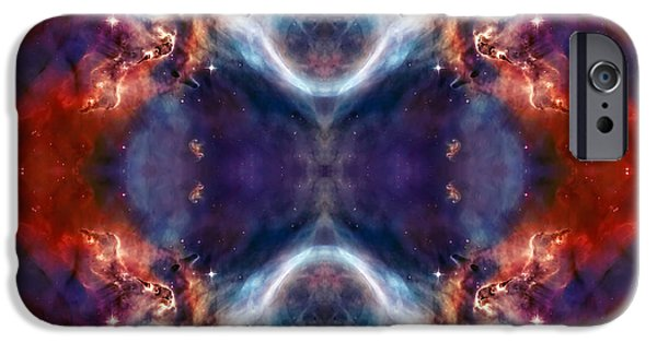 Nebula Images iPhone Cases - Gateway to the Universe - Carina Nebula iPhone Case by The  Vault - Jennifer Rondinelli Reilly