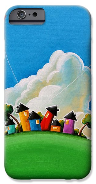 House iPhone Cases - Gather Round iPhone Case by Cindy Thornton