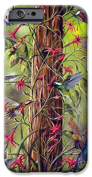 David iPhone Cases - Gathering At The Fencepost iPhone Case by David G Paul