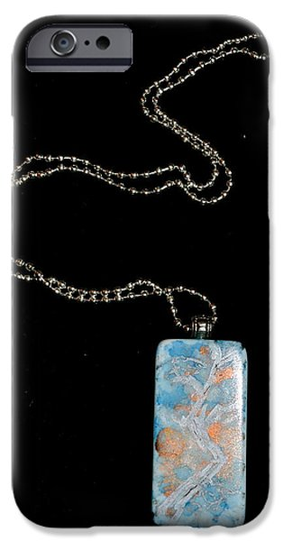 Moon Jewelry iPhone Cases - Gathering Branch Domino Pendant iPhone Case by Beverley Harper Tinsley