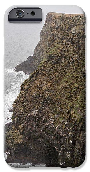 Basket iPhone Cases - Gathering Guillemot Eggs On Cliffs iPhone Case by Panoramic Images