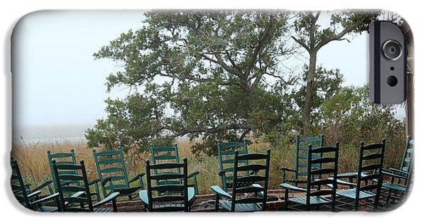 Jordan iPhone Cases - Gathering Place at Mingo Point iPhone Case by Rosanne Jordan