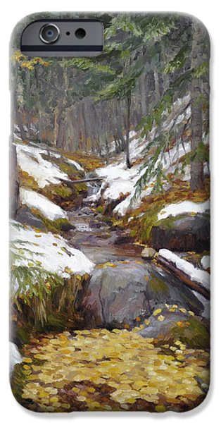 Snowy Brook iPhone Cases - Gathering iPhone Case by Scott Harding