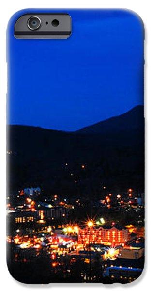 Gatlinburg Skyline at Night iPhone Case by Nancy Mueller