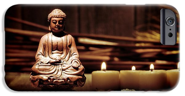 Buddhism Photographs iPhone Cases - Gautama Buddha iPhone Case by Olivier Le Queinec