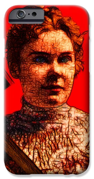 Gave Her Father Forty Whacks - Red iPhone Case by Wingsdomain Art and Photography