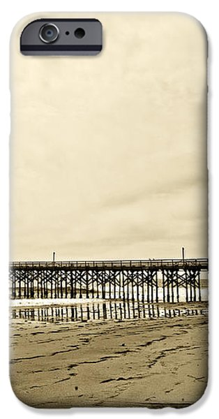 Gaviota Pier in Morning Sepia Tone iPhone Case by Artist and Photographer Laura Wrede