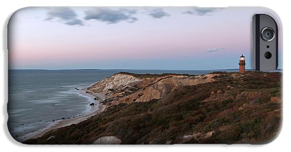 Vineyard Photograph iPhone Cases - Gay Head Lighthouse iPhone Case by Juergen Roth