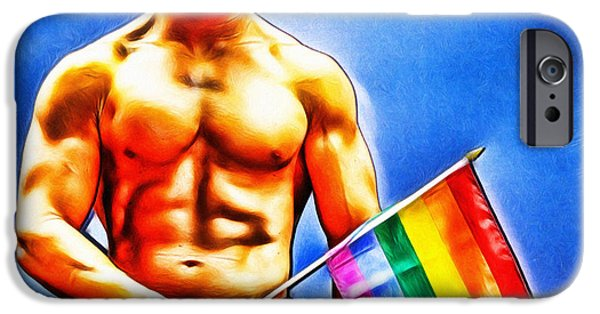 Discrimination Digital iPhone Cases - Gay Pride iPhone Case by Nishanth Gopinathan