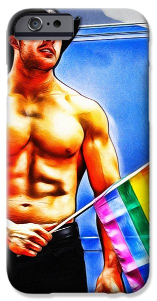 Gay Pride iPhone Case by Nishanth Gopinathan