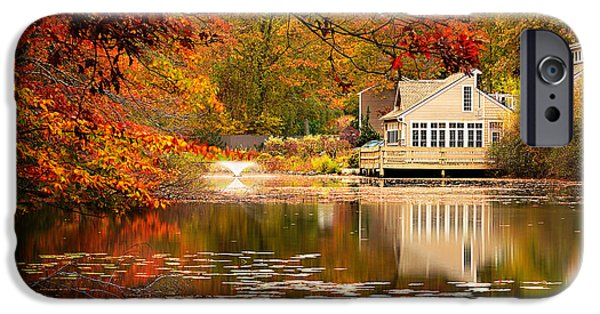 Autumn In New England iPhone Cases - Gaze In Wonder iPhone Case by Lourry Legarde