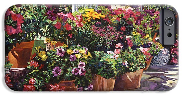 Terra Paintings iPhone Cases - Gazebo Garden iPhone Case by David Lloyd Glover