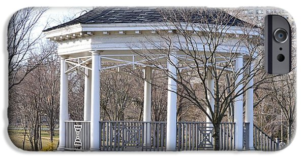 A Walk To Remember iPhone Cases - Gazebo in Buccleuch  Park iPhone Case by Sonali Gangane