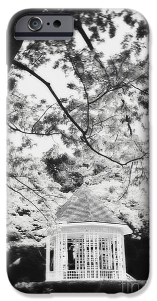 Bandstand iPhone Cases - Gazebo in monochrome iPhone Case by Ivy Ho