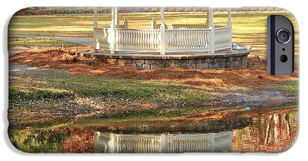 Furniture iPhone Cases - Gazebo In The Park iPhone Case by Cynthia Guinn