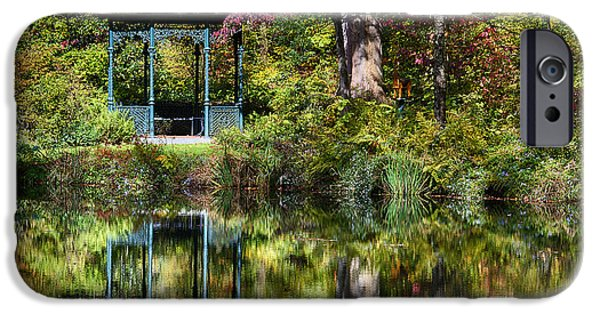 Recently Sold -  - Nature Center Pond iPhone Cases - Gazebo Retreat iPhone Case by John Greim