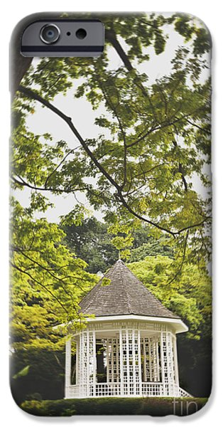 Bandstand iPhone Cases - Gazebo waiting for you iPhone Case by Ivy Ho