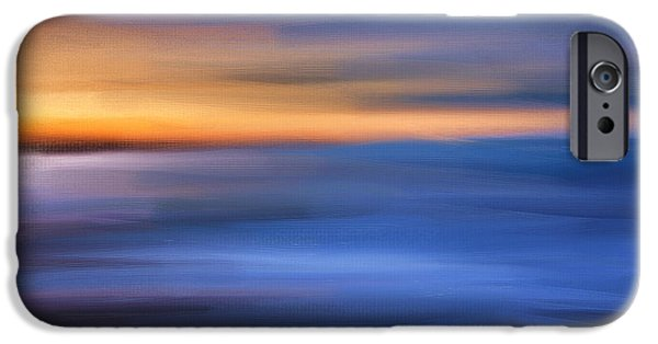 Abstract Seascape iPhone Cases - Gazing The Horizon iPhone Case by Lourry Legarde