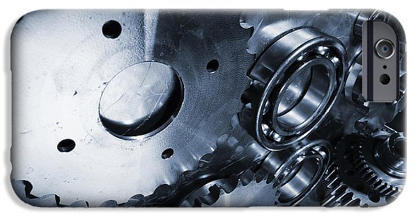 Stainless Steel iPhone Cases - Gear Power Titanium And Steel iPhone Case by Christian Lagereek