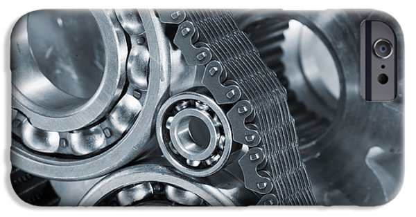 Best Sellers -  - Stainless Steel iPhone Cases - Gears And Cogs Titanium And Steel Power iPhone Case by Christian Lagereek