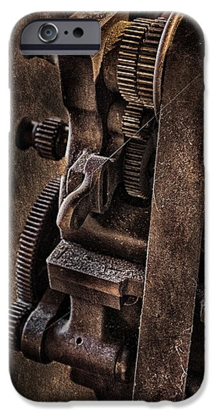 Machinery iPhone Cases - Gears And Pulley iPhone Case by Susan Candelario