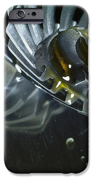 gears cogs and oil industry iPhone Case by Christian Lagereek