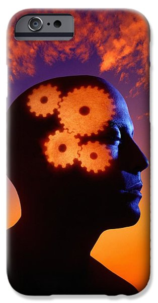 Gears Going In The Mind iPhone Case by Don Hammond