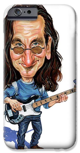 Bassist iPhone Cases - Geddy Lee iPhone Case by Art