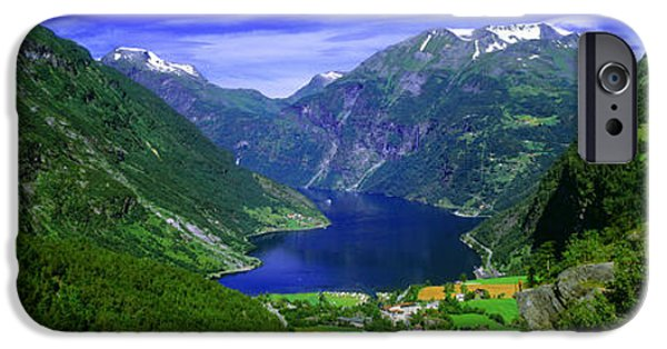 Snow iPhone Cases - Geirangerfjord, Flydalsjuvet, More Og iPhone Case by Panoramic Images