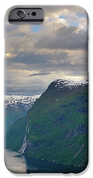 Geirangerfjord Sunset iPhone Case by Benjamin Reed