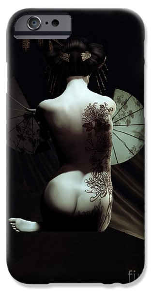 Model iPhone Cases - Geisha iPhone Case by Shanina Conway