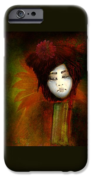 Geisha5 - Geisha Series iPhone Case by Jeff Burgess