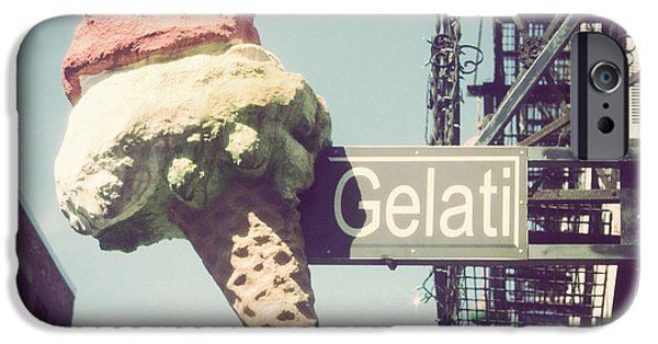 Sign iPhone Cases - Gelati iPhone Case by Jillian Audrey Photography