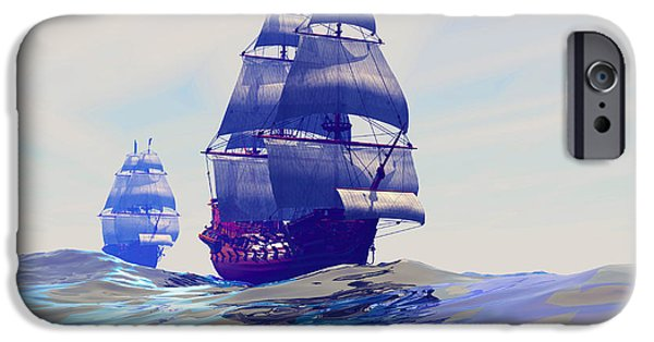 Tall Ship iPhone Cases - Gemini iPhone Case by Corey Ford