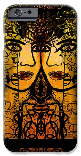 Women Together Mixed Media iPhone Cases - Gemini Twins iPhone Case by Natalie Holland