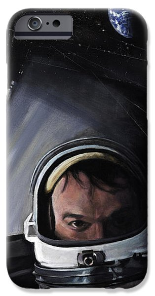 Science Paintings iPhone Cases - Gemini X- Michael Collins iPhone Case by Simon Kregar