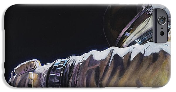 Science Paintings iPhone Cases - Gemini XI - Into The Void iPhone Case by Simon Kregar